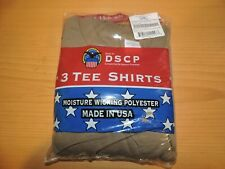 3 Pack US Military  Moisture Wicking Polyester T Shirts Brown