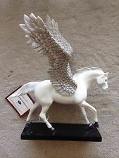 "Retired Trail of Painted Ponies ""Silver Lining"" Resin Pegasus Horse 1E #12219 NR"