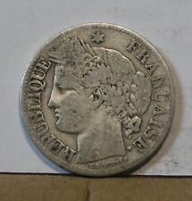 Monnaie france argent silver 2 francs ceres 1871 A normal