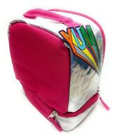 Pink Girls Lunchbox Lunch Bag Insulated Dual Compartment FREE SHIPPING