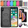 For iPhone XR 7 8 Plus Hybrid Dual Layer Armor Shockproof Hard Phone Case Cover
