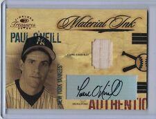 PAUL O/NEILL 2004 Timeless Treasures Material Ink Auto Bat #02/25 (B9046)