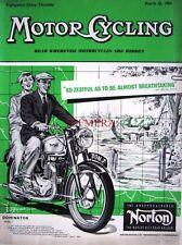 Mar 25 1954 Norton 'Dominator 7' Motor Cycle ADVERT - Magazine Cover Print