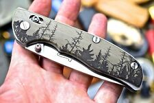 Cfk iPak Usa Custom Cnc D2 G10 Forest Folding Axis-Lock Pocket Tactical Knife