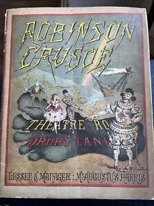 1881 Theatre Royal Drury Lane Programme Robinson Crusoe Adverts Harris Manager