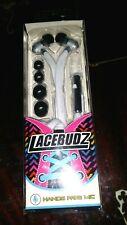 Lacebudz Earphone Hands Free MIC white new