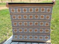 Vintage Native American Navajo Handmade/Handspun Wool Navajo  Rug-Authentic-!