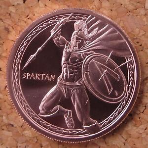 Warrior Series SPARTAN - 1 oz .999 BU copper round - 1st in Series