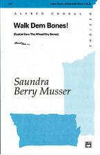 Walk dem huesos (3 parte cualquier combinación); Musser, Ojotas Berry (Arr). - 7734