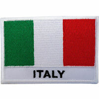 Italy Flag Patch Iron Sew On Embroidered Italian Shirt Badge Embroidery Applique