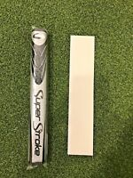 New Super Stroke Slim 3.0 Lite Putter Grip, Silver/Black Midnight w/ Grip Tape