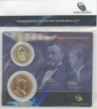 Presidential $1 + First Spouse Medal Set ULYSSES GRANT sealed Mint holder
