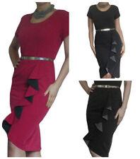 Vestiti da donna tubino business con girocollo