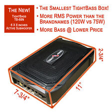 """The New and THE SMALLEST! TightBass Underseat Bass Box - 6X8"""" Active Subwoofer"""