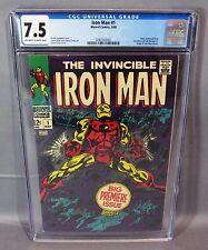IRON MAN #1 (Origin Retold, Ongoing Series) CGC 7.5 VF- Marvel Comics 1968 cbcs