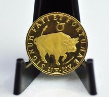 Zodiac Taurus 1/10oz Gold Coin with Pouch [10DU]