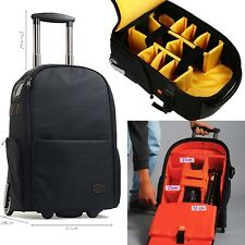 Professional Camera Camcorder Backpack DSLR SLR Camera Covers Bags With Wheels