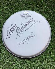 "Woody Woodmansey & TONY VISCONTI Signed Autograph 8"" Drum Head JSA COA"