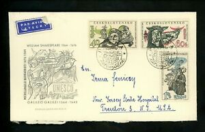 Postal History Czechoslovakia FDC #1229//1232 Art sciences Unesco UN 1964