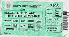Sammler Used Ticket / Entrada Belgium v Holland 20-08-2003