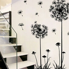 Dandelion PVC Wall Sticker DIY Decal Home Room Decor Removable Art Vinyl Flower