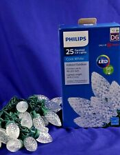 Philips Faceted  25 Cool White C9  LED Lights