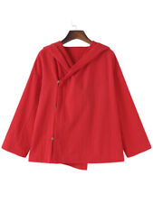 S-5XL Women Cotton Hooded Thin Outerwear