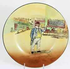 Antique Dickens Collector Cabinet Plate Royal Doulton China D5175 Cap'N Cuttle