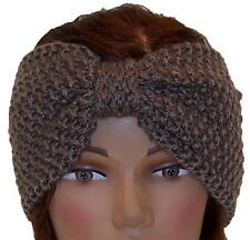 Best Winter Hats Adult Crochet Bow Knot Headband/Ear Warmer #483 Light Brown