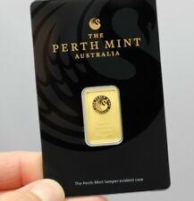 5 Gramm Goldbarren The Perth Mint Australia 999,9 Feingold im Blister