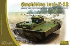 Transporte soviético anfibio blindado Luz Tanque T-38 Ww2 1/35 Parc Modelos