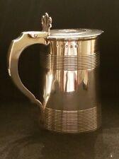 George III Sterling Silver Lidded Cann Tankard