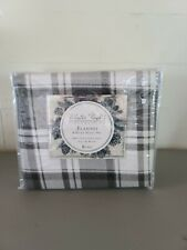 Winter Nights Plaid Flannel 4 Piece King Sheet Set