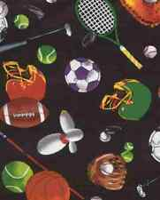 Wide World of All Sports Quilt Fabric - Free Shipping - 1 Yard