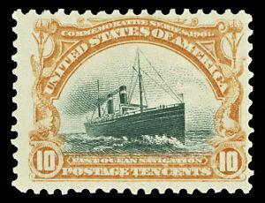 Scott 299 1901 10c Pan-American Issue Mint F-VF OG HR Cat $115
