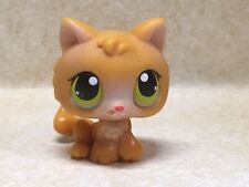 Littlest Pet Shop LPS #86 Cat Kitten Orange Green Yellow Dot Eyes Preowned