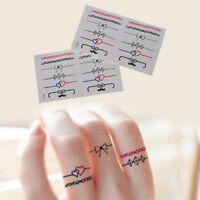 2Pcs Diy Ring Removable Waterproof Temporary Tattoo Body Stickers Gift JE