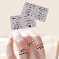 DIY Ring Removable Waterproof Temporary Tattoo Body Sticker 2Pcs SRAU