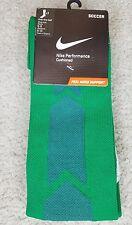 Nike Socks Performance Cushioned Over The Calf Green 1 Pair Medium NEW