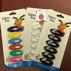 6PCS SET MUSLIM HIJAB SCARF ABAYA BROOCH SAFETY PINS NEW COLORS MIX COLORS PINS