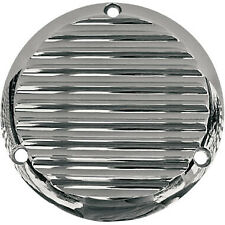 Chrome 3 Hole Finned Derby Cover for Harley Davidson Big Twins (1970-1998)