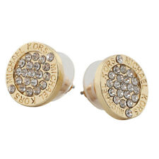 Pendientes Moda Elegante Oro plata rosa círculo cristal Stud encanto aretes joya