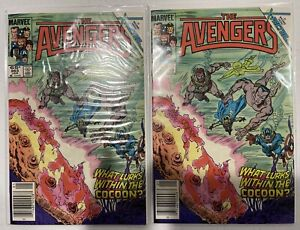 Avengers #263 Newsstand Variant NM 9.4 and #263 NM+ 9.6