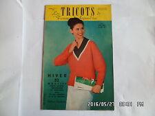 LES TRICOTS DE FEMMES D'AUJOURD'HUI N°111 1958 MODELES FEMME ENFANT HOMME    J46