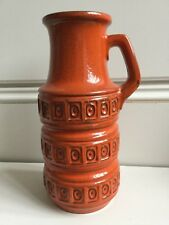 West German art vase superb orange vase 1960/70