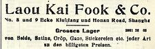 Lao Kai Fook & co. shanghai seda kolonialwerbung de 1908