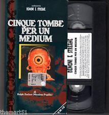 CINQUE TOMBE PER UN MEDIUM (1966) VHS Demoni e Streghe  Video