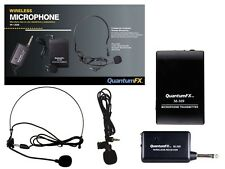 New Qfx M-309 Two Wireless Microphones Karaoke/Pa System +Lapel Mic +Headset Mic
