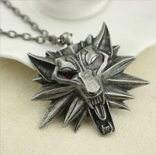 The Witcher 3 III Wild Hunt Wolf Medallion Pendant Necklace Cosplay Accessories
