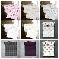 New Flannelette Flannel Sheet Set With Pillow Case 100% Thermal Brushed Cotton